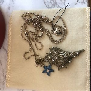 Vintage Betsy Johnson Seashell Necklace